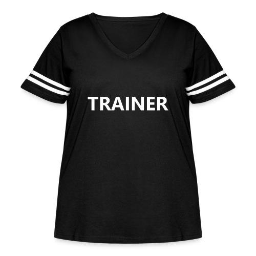 Trainer - Women's Curvy Vintage Sport T-Shirt