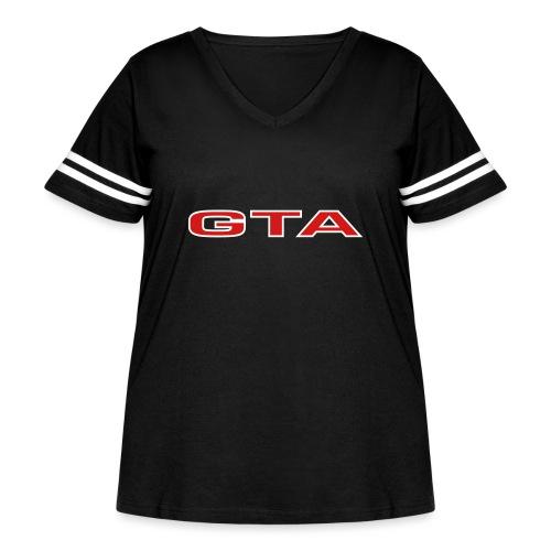 Alfa 155 GTA - Women's Curvy Vintage Sport T-Shirt