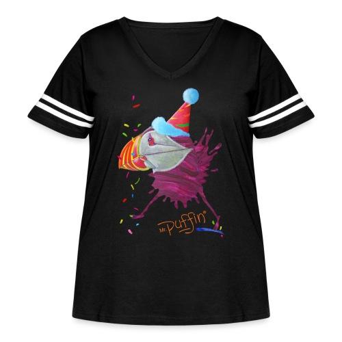 MR. PUFFIN - Women's Curvy Vintage Sport T-Shirt