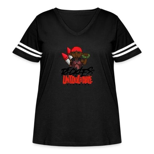 Reckless and Untouchable_1 - Women's Curvy Vintage Sport T-Shirt