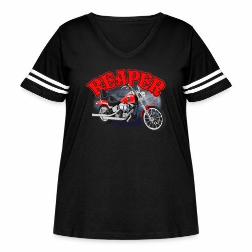 Motorcycle Reaper - Women's Curvy Vintage Sport T-Shirt