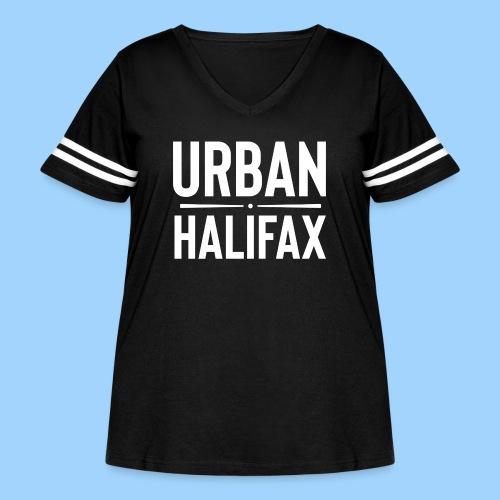 Urban Halifax logo (White) - Women's Curvy Vintage Sport T-Shirt