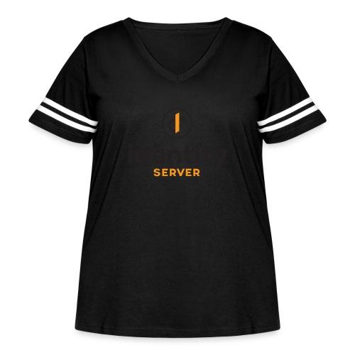 Idenity Server Mug - Women's Curvy Vintage Sport T-Shirt