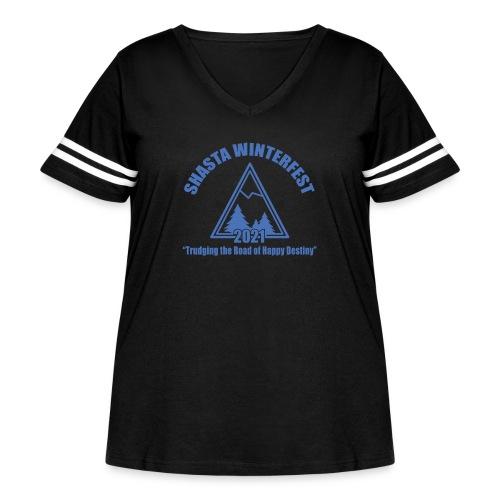 front logo - Women's Curvy Vintage Sport T-Shirt