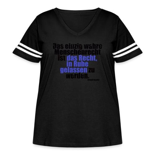 Human Right Libertarian Quote - Women's Curvy Vintage Sport T-Shirt