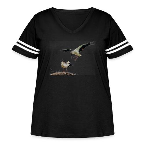 Stork - Women's Curvy Vintage Sport T-Shirt