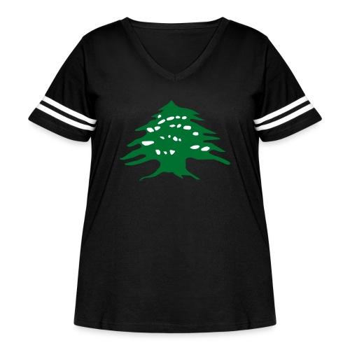 Lebanese Pride Shirt - Women's Curvy Vintage Sport T-Shirt