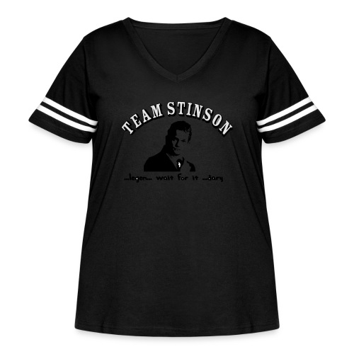 3134862_13873489_team_stinson_orig - Women's Curvy Vintage Sport T-Shirt
