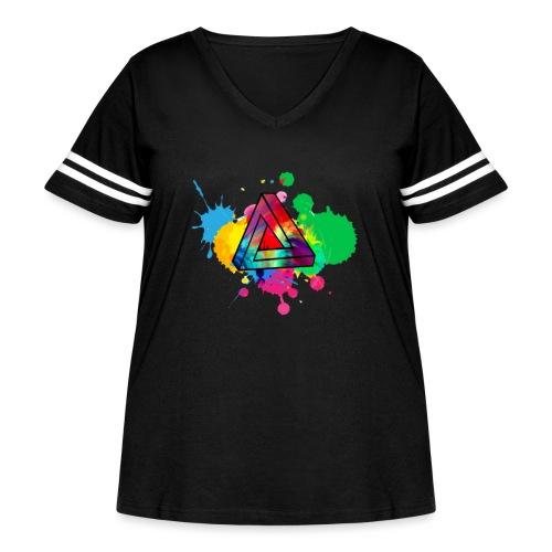 PAINT SPLASH - Women's Curvy Vintage Sport T-Shirt