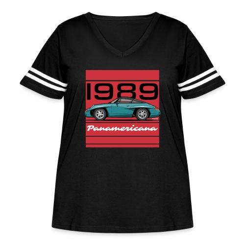 1989 P0r5che Panamericana Concept Car - Women's Curvy Vintage Sport T-Shirt