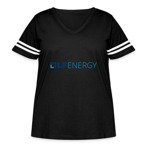 LF Energy Color - Women's Curvy Vintage Sports T-Shirt