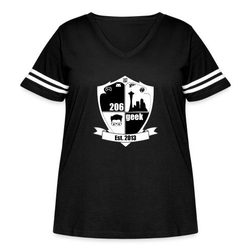 206geek podcast - Women's Curvy Vintage Sports T-Shirt