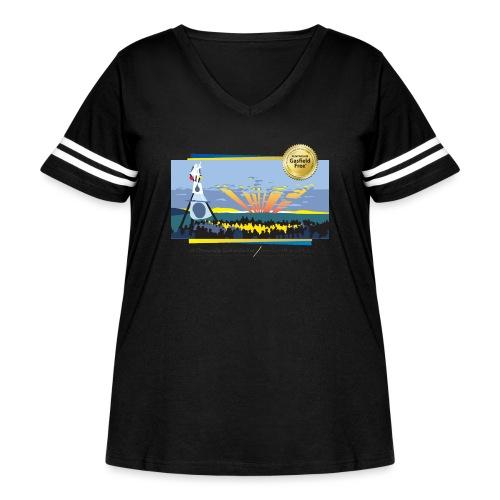 Bentley Blockade - Women's Curvy Vintage Sport T-Shirt