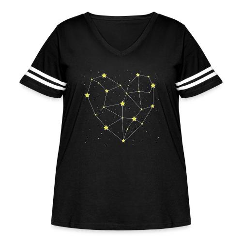 Heart in the Stars - Women's Curvy Vintage Sport T-Shirt