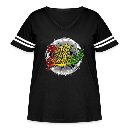 Rasta nuh Gangsta - Women's Curvy Vintage Sport T-Shirt