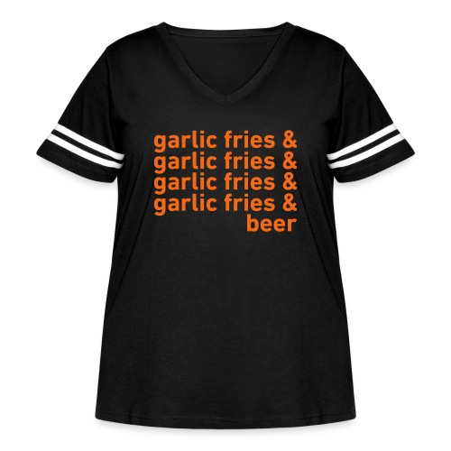 Garlic Fries & Beer (SF Giants) - Women's Curvy Vintage Sport T-Shirt