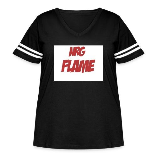 Flame For KIds - Women's Curvy Vintage Sport T-Shirt