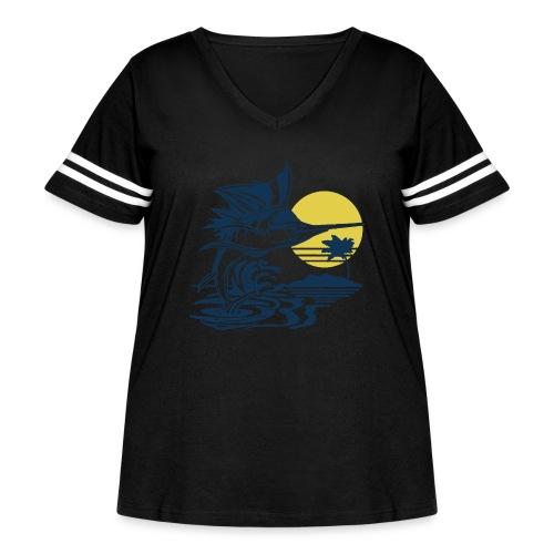 Sailfish - Women's Curvy Vintage Sport T-Shirt