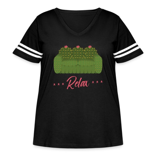 Relax! - Women's Curvy Vintage Sport T-Shirt