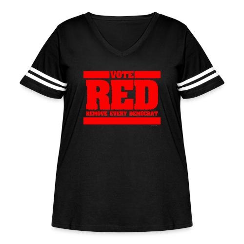 Remove every Democrat - Women's Curvy Vintage Sport T-Shirt
