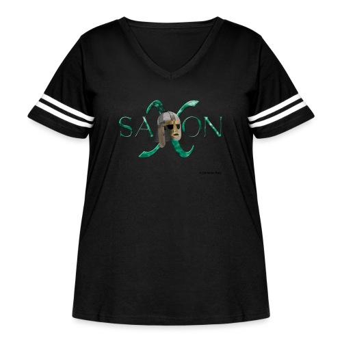 Saxon Pride - Women's Curvy Vintage Sport T-Shirt
