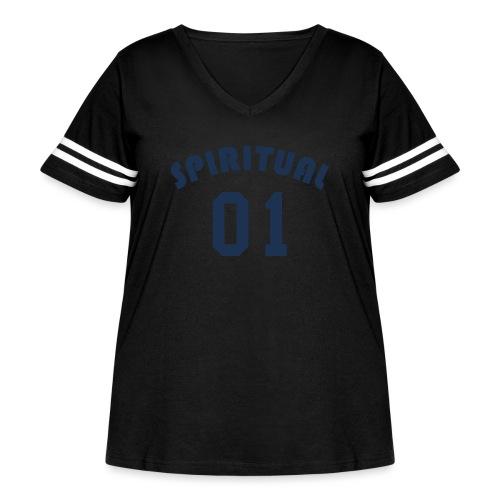 Spiritual One - Women's Curvy Vintage Sport T-Shirt