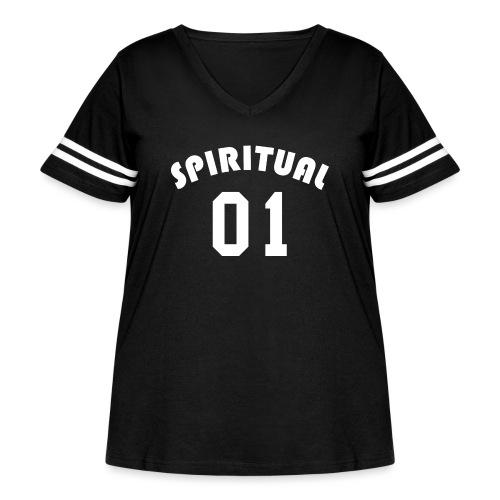 Spiritual 01 - Team Design (White Letters) - Women's Curvy Vintage Sport T-Shirt