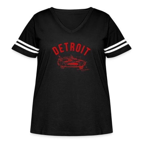 Detroit Art Project - Women's Curvy Vintage Sport T-Shirt