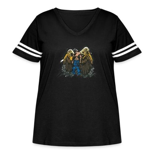 Angel - Women's Curvy Vintage Sport T-Shirt