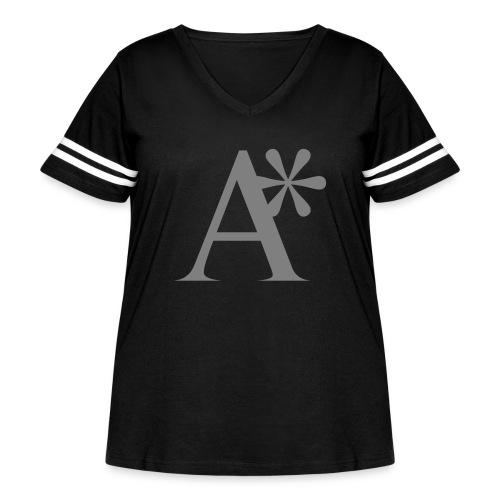 A* logo - Women's Curvy Vintage Sports T-Shirt
