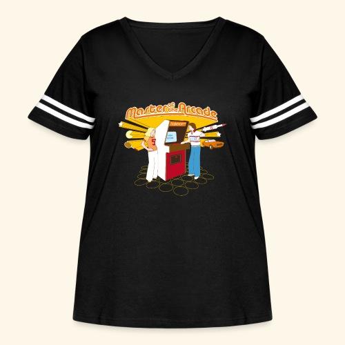 Master of the Arcade - Women's Curvy Vintage Sport T-Shirt