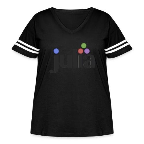 Official Julia Logo - Women's Curvy Vintage Sports T-Shirt