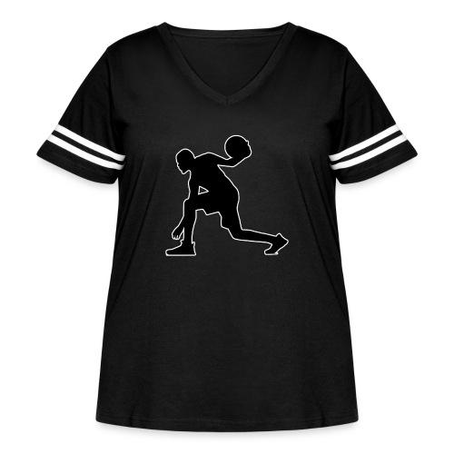 Basketball - Women's Curvy Vintage Sport T-Shirt