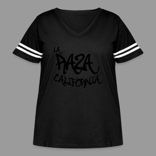 La Raza California - Women's Curvy Vintage Sport T-Shirt