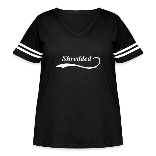 Mens Shredded Crewneck Sweatshirt - Women's Curvy Vintage Sport T-Shirt