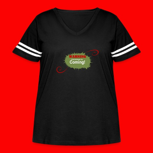 Christmas_is_Coming - Women's Curvy Vintage Sport T-Shirt