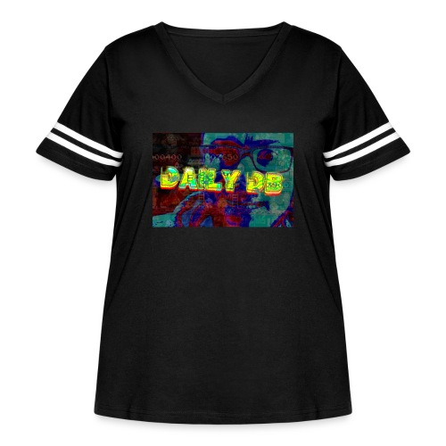 daily db poster - Women's Curvy Vintage Sports T-Shirt