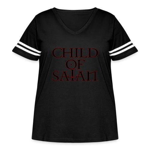 Child Of Satan - Women's Curvy Vintage Sport T-Shirt