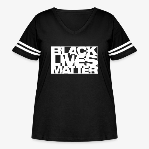 Black Live Matter Chaotic Typography - Women's Curvy Vintage Sport T-Shirt