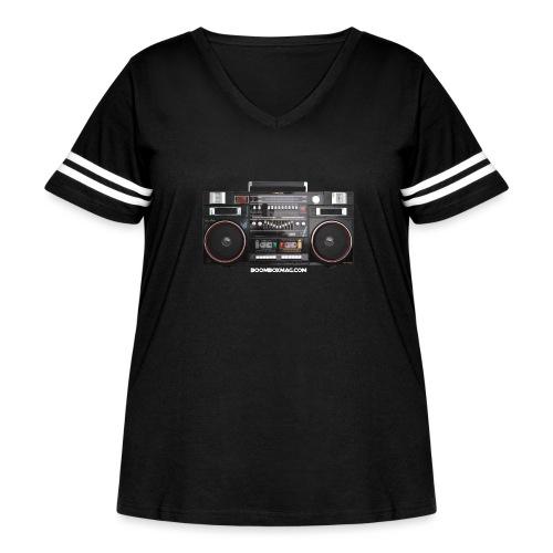Helix HX 4700 Boombox Magazine T-Shirt - Women's Curvy Vintage Sport T-Shirt