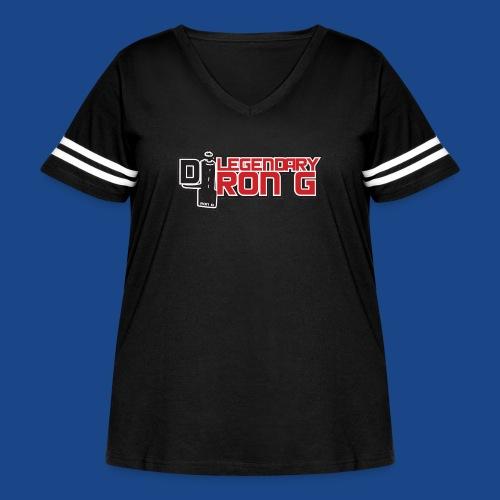 Ron G logo - Women's Curvy Vintage Sport T-Shirt