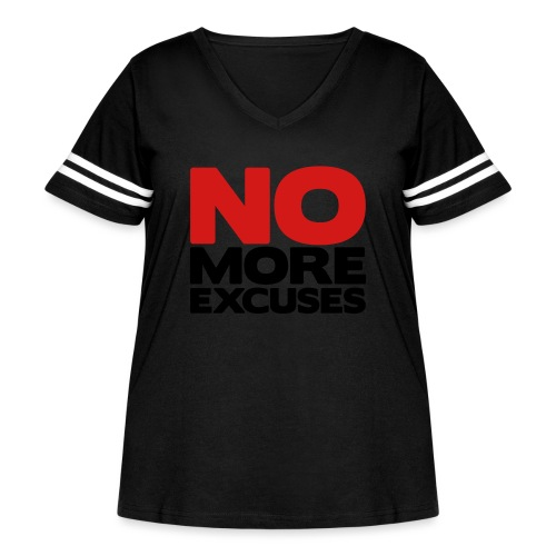 No More Excuses - Women's Curvy Vintage Sports T-Shirt