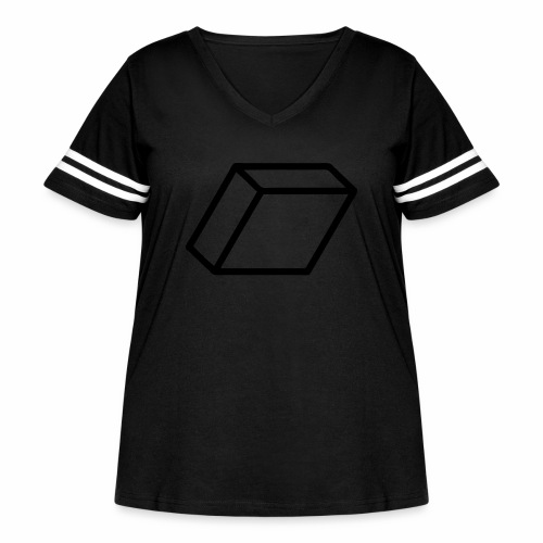 rhombus3 ai - Women's Curvy Vintage Sport T-Shirt