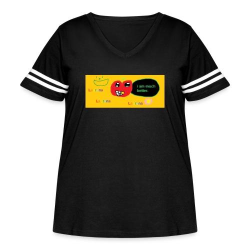 pechy vs apple - Women's Curvy Vintage Sport T-Shirt