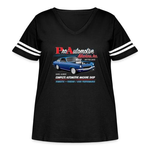 ProAutoTeeDesign062317fin - Women's Curvy Vintage Sport T-Shirt