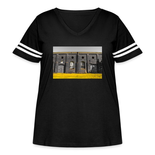 Bricks: who worked here - Women's Curvy Vintage Sport T-Shirt