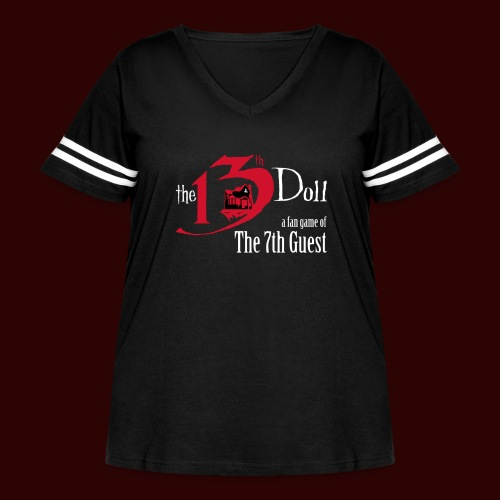 The 13th Doll Logo - Women's Curvy Vintage Sport T-Shirt