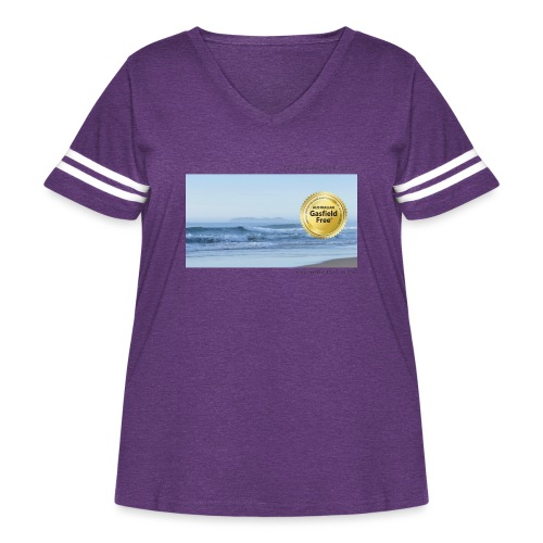 Beach Collection 1 - Women's Curvy Vintage Sport T-Shirt