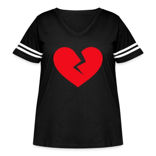 Broken Heart - Women's Curvy Vintage Sport T-Shirt
