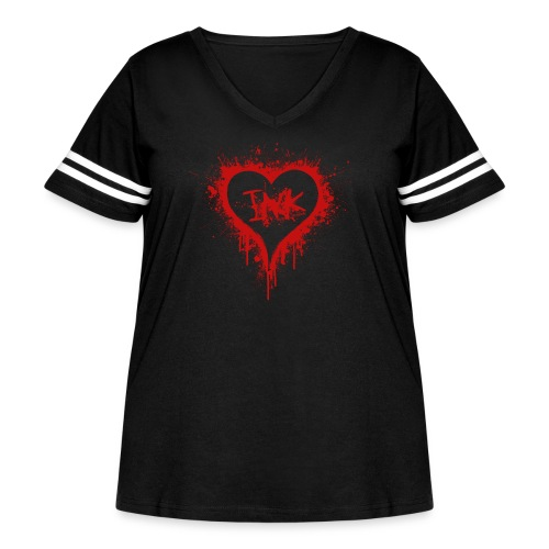 I Love Ink_red - Women's Curvy Vintage Sport T-Shirt